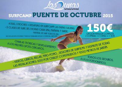Campaña banners Surfcamp Las Dunas Octubre