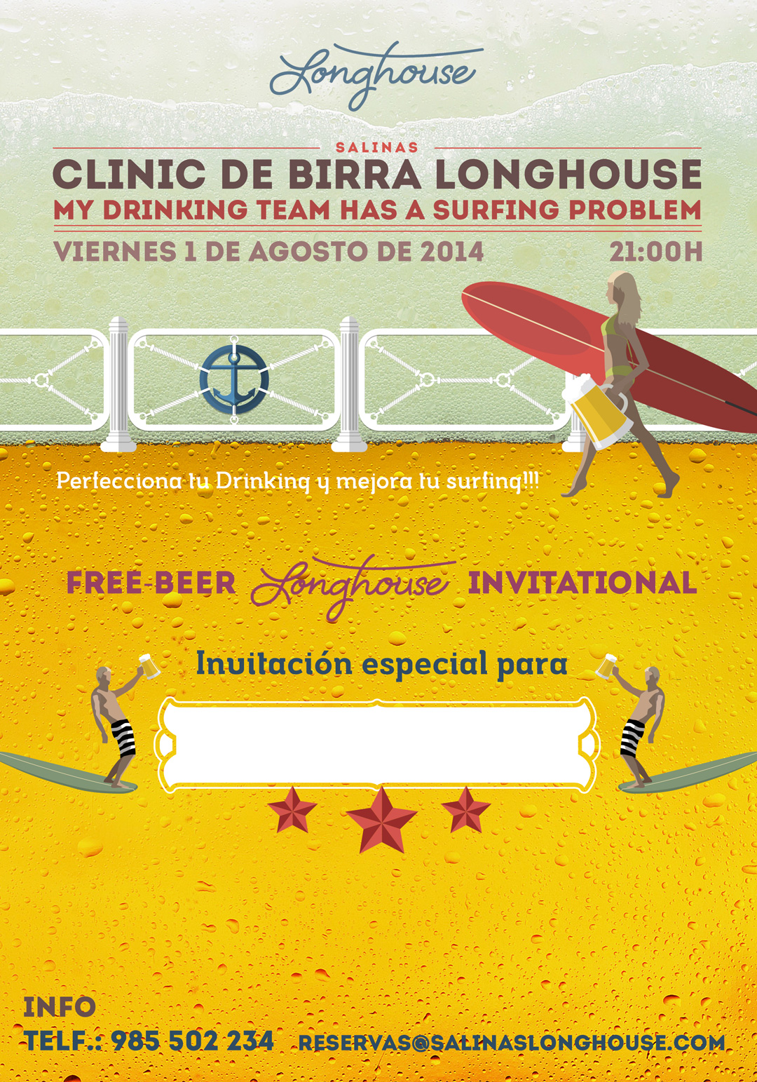 Invitación Clinic Beer