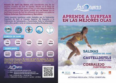Díptico Surfcamp Las Dunas