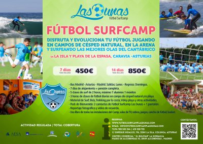 Folleto Futbol Surfcamp Las Dunas