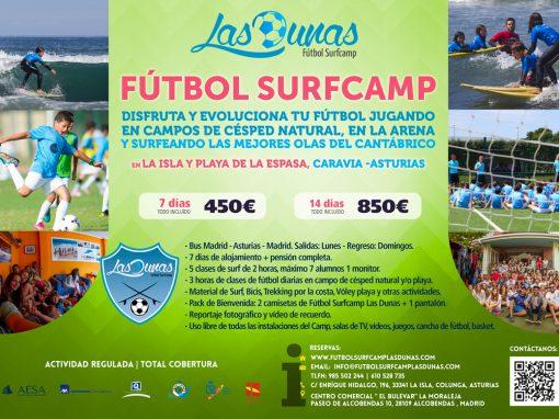 Folleto Futbol Surfcamp Las Dunas