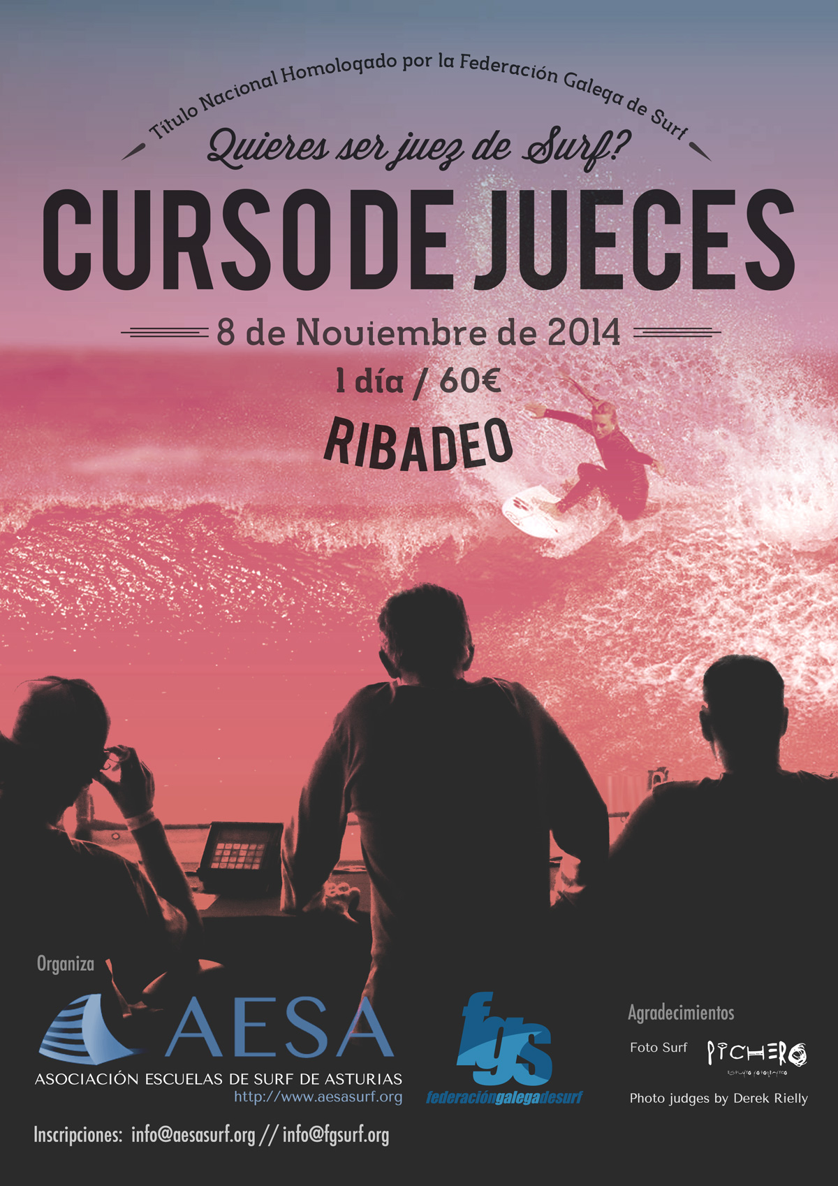 Cartel curso de jueces