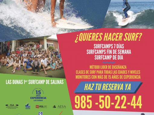 Folleto Surfcamp Las Dunas