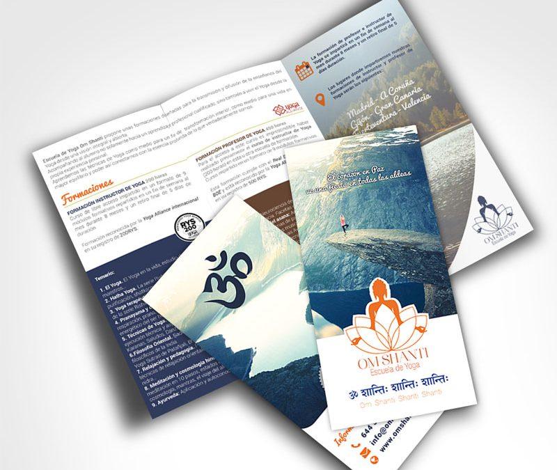 Om Shanti Yoga – Triptico y Valla Publicitaria
